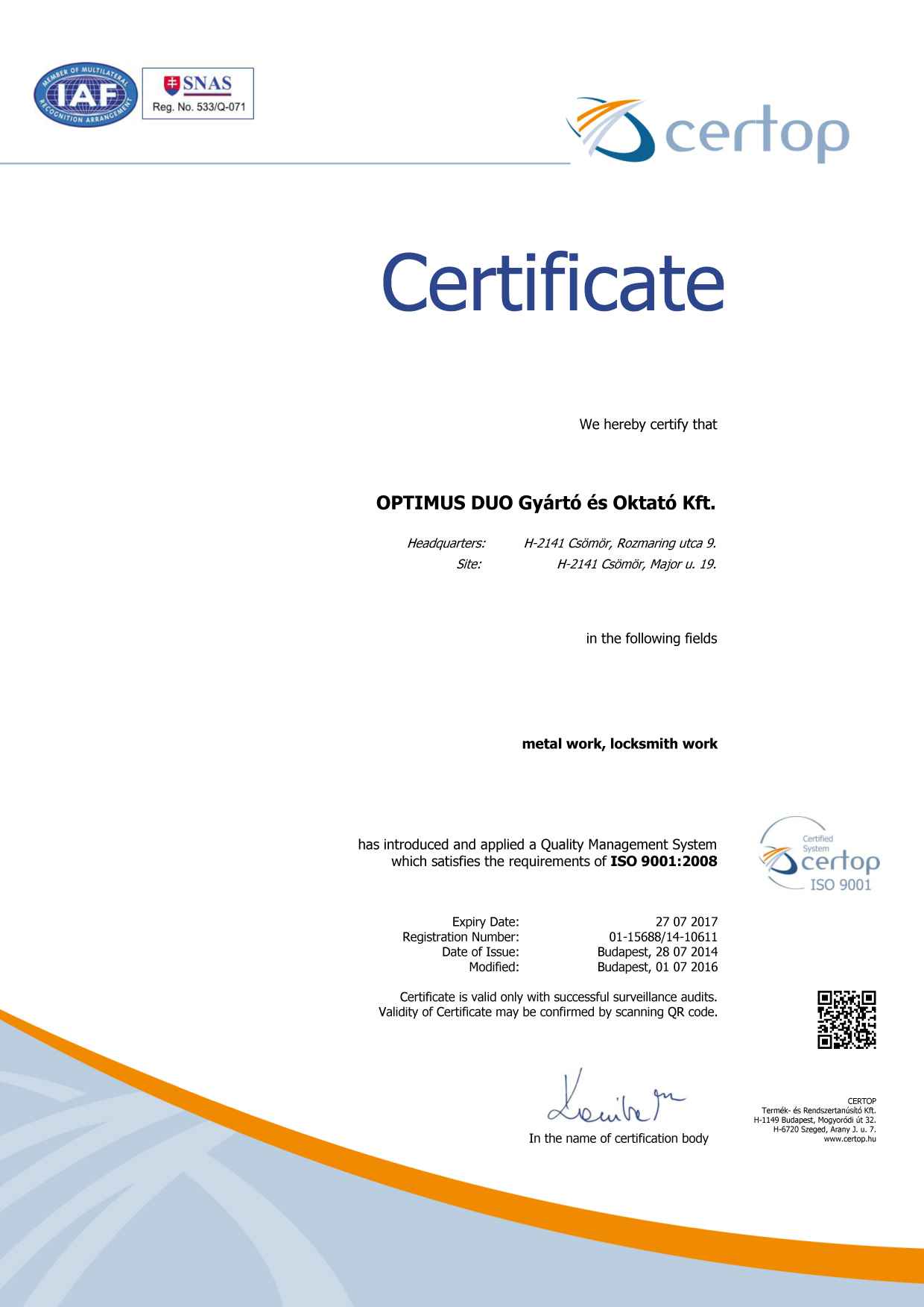 Quality Certification Repairing Of Industrial Components Serial